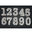 Set of numbers from the tree branches vector image vector image