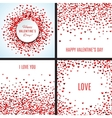 Set of romantic red heart backgrounds vector image
