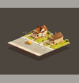 set suburbian family houses on street vector image