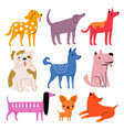 set with cute cartoon dogs vector image