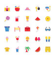 summer and holidays icons 2 vector image vector image