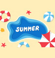 summer background paper style on sea vector image vector image