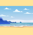 summer sunny tropical backgrounds seascape with vector image vector image