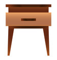 traditional nightstand icon cartoon style vector image vector image