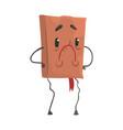 upset book humanized cartoon character vector image vector image