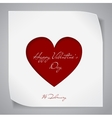 Valentines Day background with red cutting heart vector image
