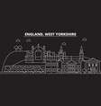 west yorkshire silhouette skyline great britain vector image vector image