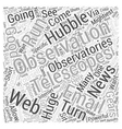 What if They Let YOU Run the Hubble Word Cloud vector image vector image
