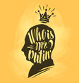 who is mr putin lettering calligraphy vector image vector image