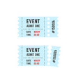 whole and torn raffle ticket stub icon vector image
