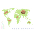 World Map with Egg Production and Consumption vector image vector image