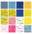cute colorful background set for kid web site and vector image