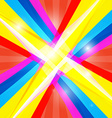 Abstract Colorful Retro Shiny Colorful Background vector image vector image