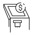 atm machine icon outline style vector image vector image