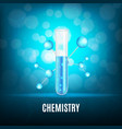 background with test-tube vector image vector image