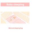 Basleeping in bed in sleeping bag healthy