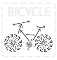 bike from arrows vector image vector image