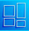 blue background with white border frames vector image vector image