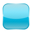 blue square icon with stripes vector image