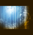 bright abstract technology background vector image vector image