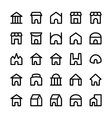 Building Icons 6 vector image vector image
