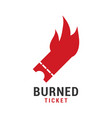 burned ticket graphic icon design template vector image vector image