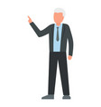 businessman icon flat style vector image vector image