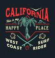 california happy place vector image vector image