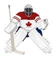 canada hockey goalie vector image vector image