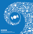 candy icon sign Nice set of beautiful icons vector image vector image