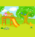 cartoon empty country playground vector image