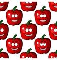 Cartoon pepper character vector image
