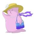 Cartoon woman - a fantastic toy animal vector image vector image