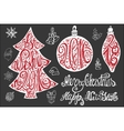 Christmas letteringcard elements set2016 New vector image vector image
