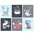 collection posters for nursery with animals vector image