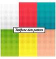 colour set halftone retro background vector image vector image