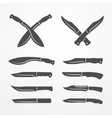 Combat knife set vector image