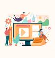 content management journalism promotion blogging i vector image