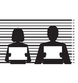 criminal record vector image vector image