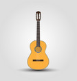 cutaway guitar classical guitar music instrument vector image