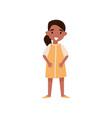 cute smiling hispanic little girl standing vector image vector image