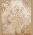 damask pattern texture royal fabric vector image
