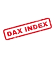 Dax Index Text Rubber Stamp vector image vector image