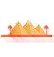 Egyptian pyramids in flat style with long shadows vector image vector image