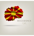 flag macedonia as a country with a shadow vector image