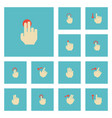 flat icons right touch gesture and other vector image