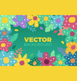 flower background in flat vector image vector image