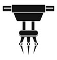 fork hand crane icon simple style vector image