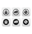 Free gift free delivery sale buttons set vector image