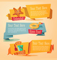 fun summer banners set - beach theme vector image